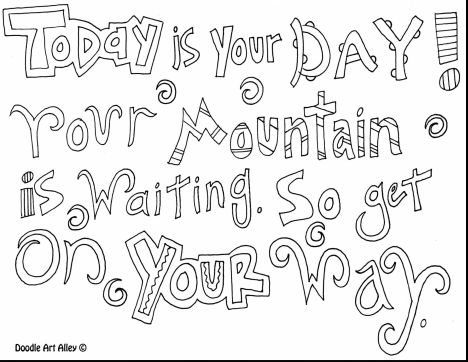 Doodle Coloring Pages Quotes 11