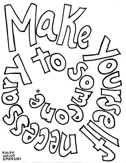 Doodle Coloring Pages Quotes 12