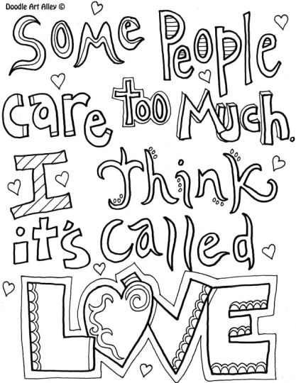 Doodle Coloring Pages Quotes 13