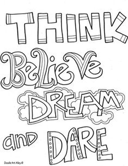 Doodle Coloring Pages Quotes 15