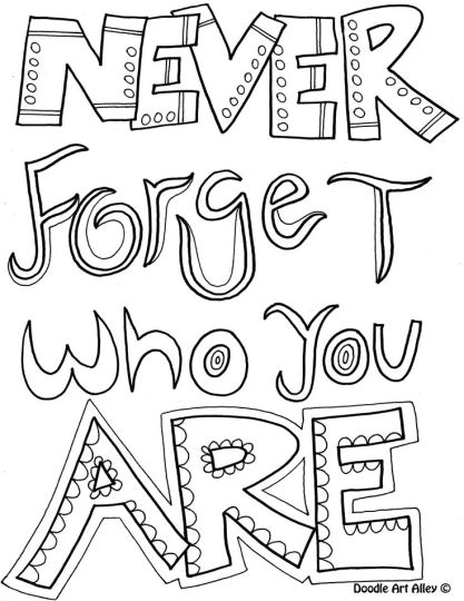 Doodle Coloring Pages Quotes 19