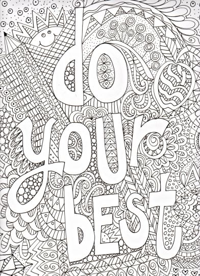 Doodle Coloring Pages Quotes 22