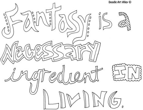 Doodle Coloring Pages Quotes 23