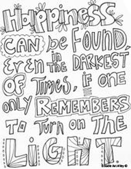 Doodle Coloring Pages Quotes 26