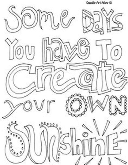 Doodle Coloring Pages Quotes 29