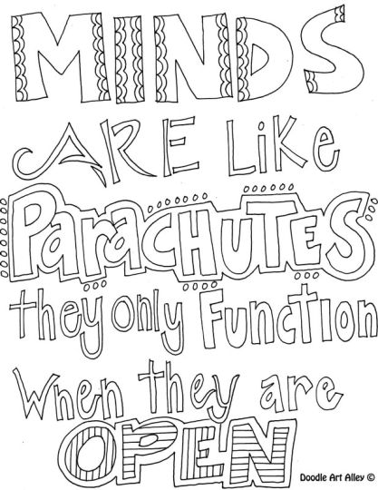 Doodle Coloring Pages Quotes 3
