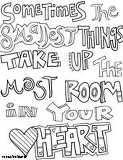 Doodle Coloring Pages Quotes 31