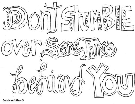 Doodle Coloring Pages Quotes 35