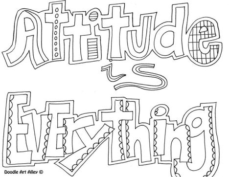Doodle Coloring Pages Quotes 36