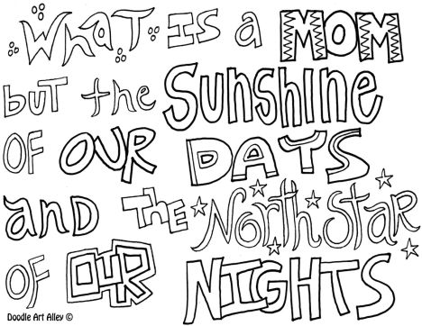 Doodle Coloring Pages Quotes 37