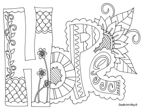 Doodle Coloring Pages Quotes 4