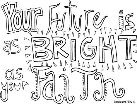 Doodle Coloring Pages Quotes 40