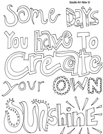 Doodle Coloring Pages Quotes 43