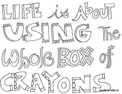 Doodle Coloring Pages Quotes 44