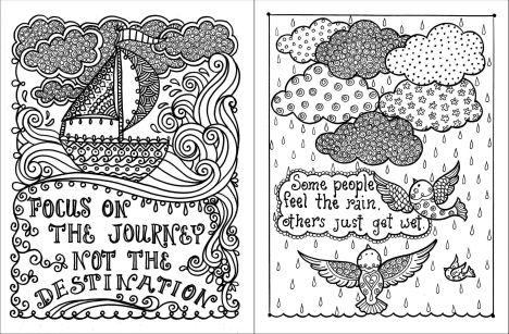 Doodle Coloring Pages Quotes 46