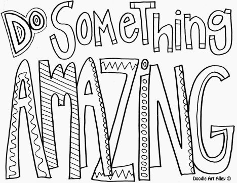 Doodle Coloring Pages Quotes 5