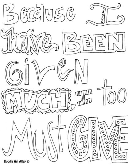 Doodle Coloring Pages Quotes 50