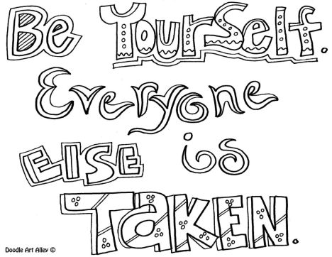 Doodle Coloring Pages Quotes 51