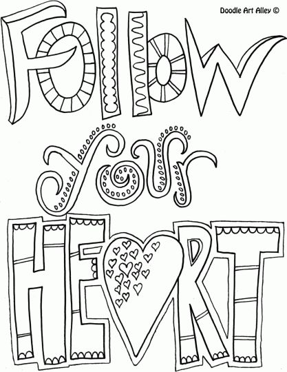 Doodle Coloring Pages Quotes 52