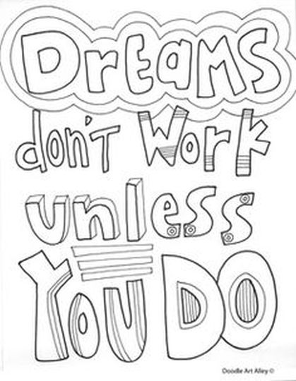 Doodle Coloring Pages Quotes 56