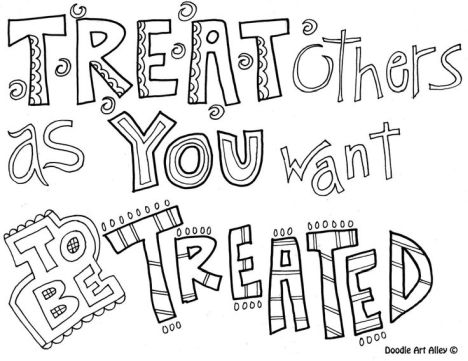 Doodle Coloring Pages Quotes 58
