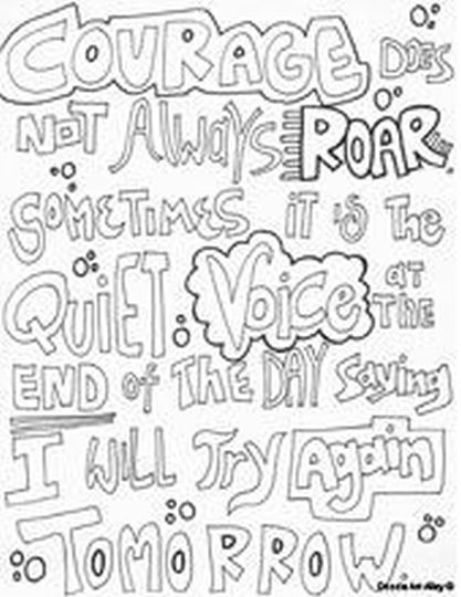 Doodle Coloring Pages Quotes 59