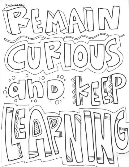 Doodle Coloring Pages Quotes 60