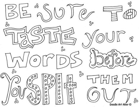 Doodle Coloring Pages Quotes 65