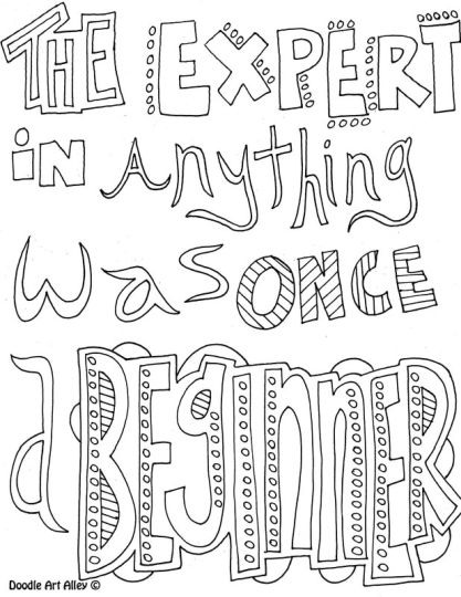 Doodle Coloring Pages Quotes 67