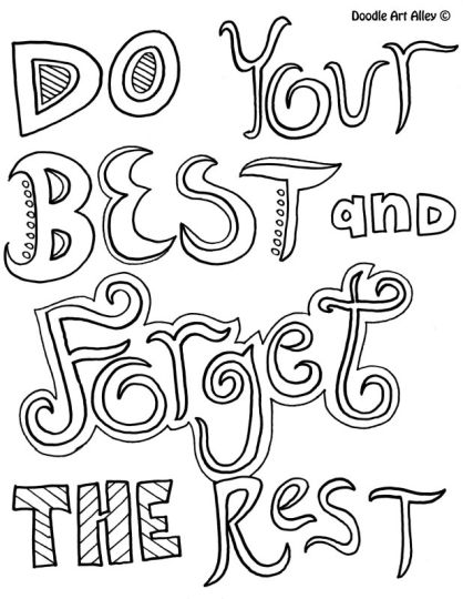 Doodle Coloring Pages Quotes 68