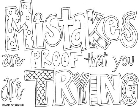 Doodle Coloring Pages Quotes 7