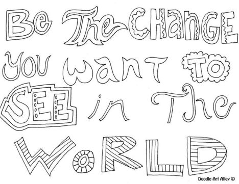 Doodle Coloring Pages Quotes 70