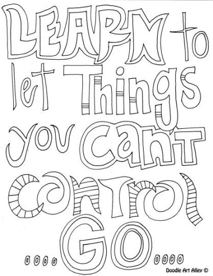Doodle Coloring Pages Quotes 71