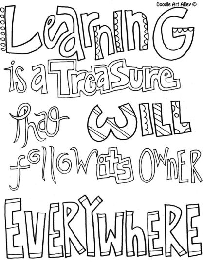 Doodle Coloring Pages Quotes 78