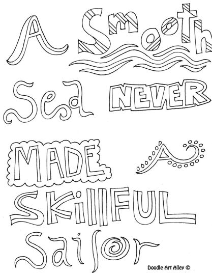 Doodle Coloring Pages Quotes 8