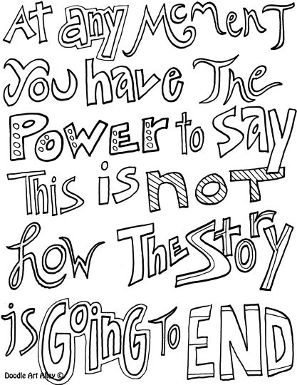 Doodle Coloring Pages Quotes 9