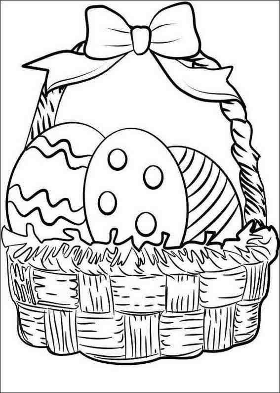 Easter Basket Coloring Pages 11