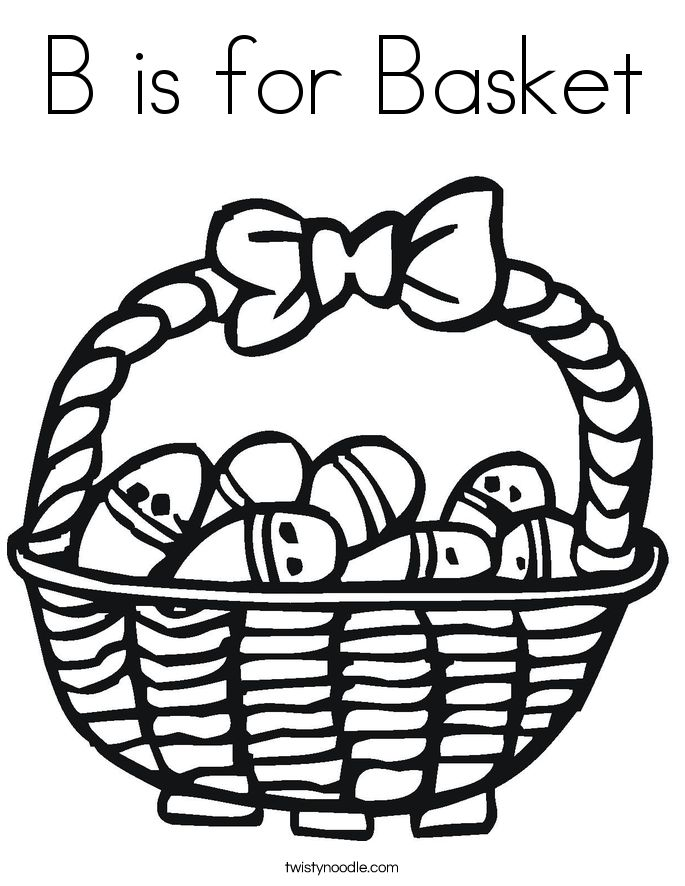 Easter Basket Coloring Pages 12