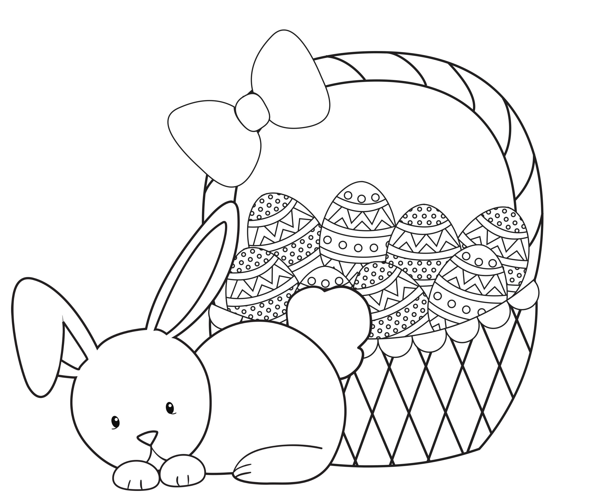 Easter Basket Coloring Pages 13