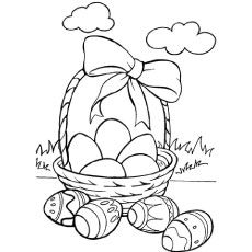 Easter Basket Coloring Pages 14