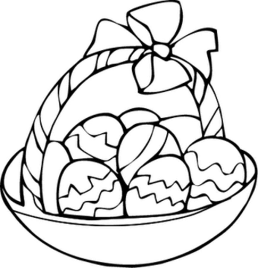 Easter Basket Coloring Pages 15