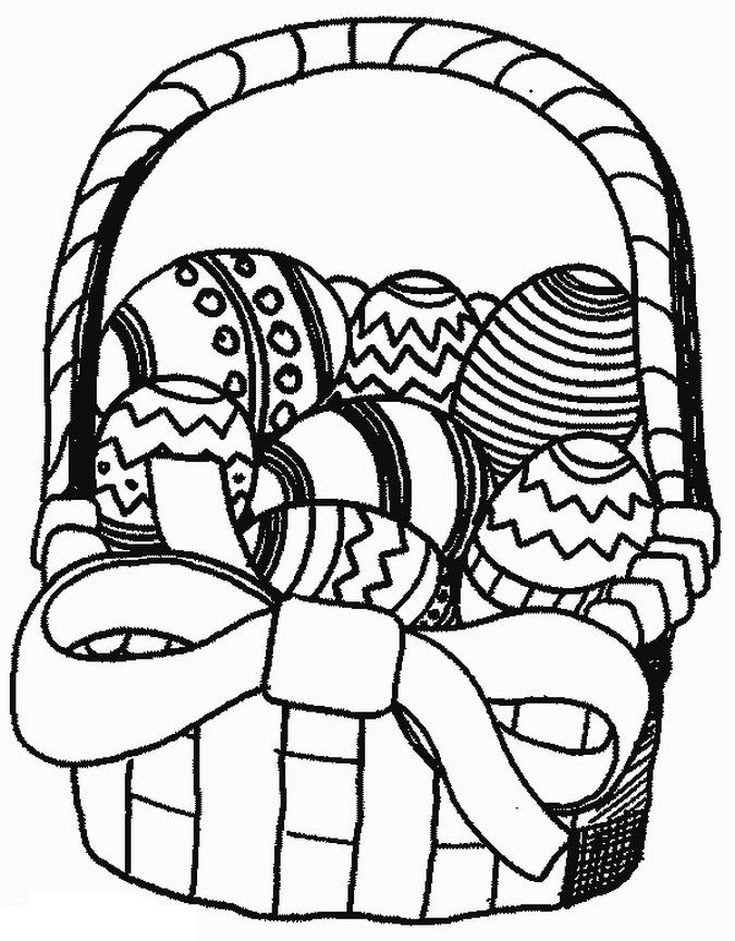 Easter Basket Coloring Pages Part 2
