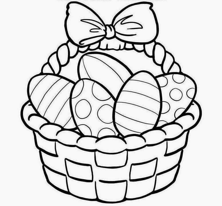 Easter Basket Coloring Pages 18