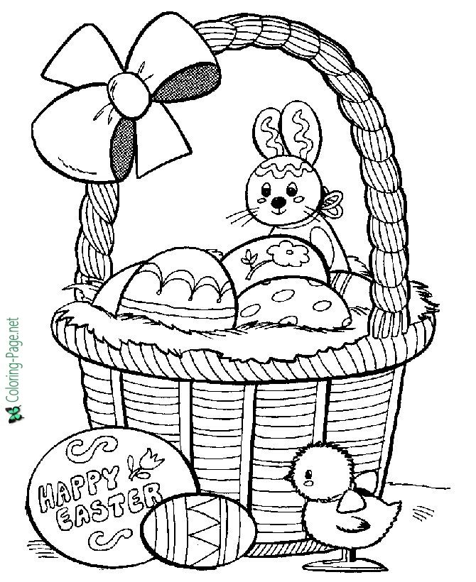 Easter Basket Coloring Pages 19