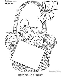Easter Basket Coloring Pages 2