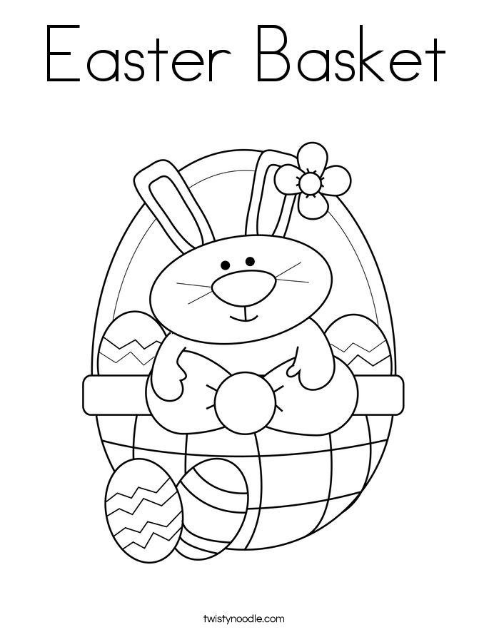 Easter Basket Coloring Pages 20
