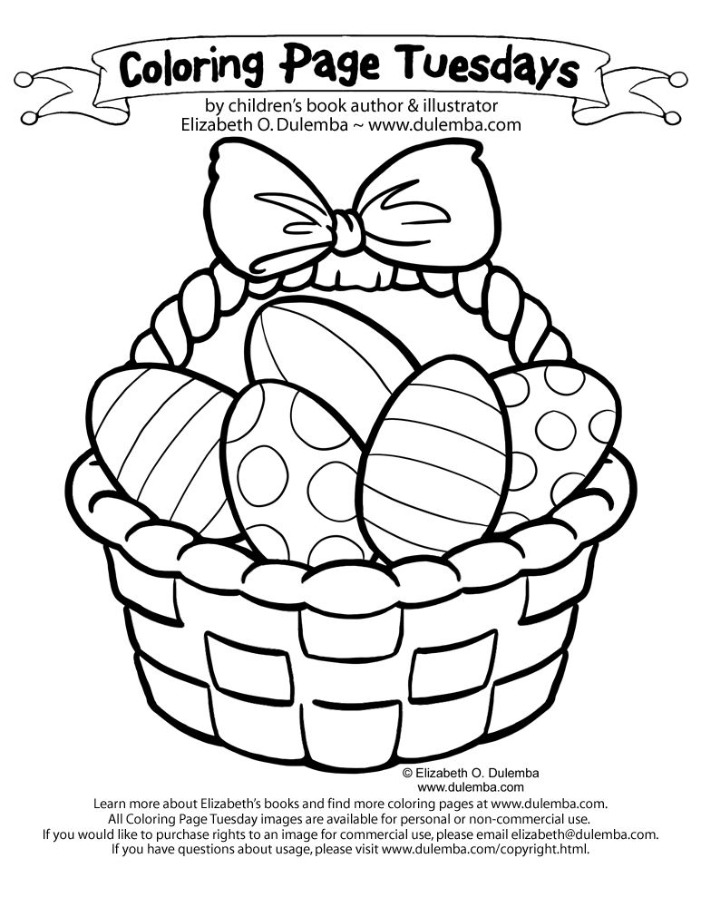 Easter Basket Coloring Pages 21