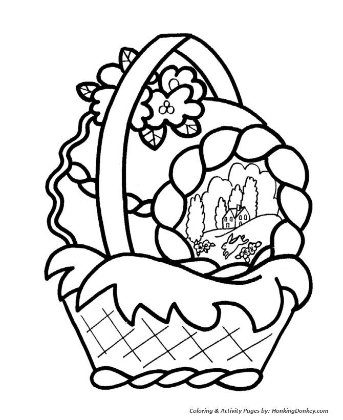 Easter Basket Coloring Pages 22