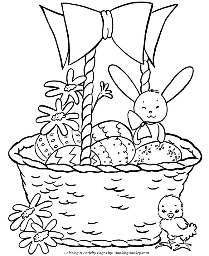 Easter Basket Coloring Pages 23