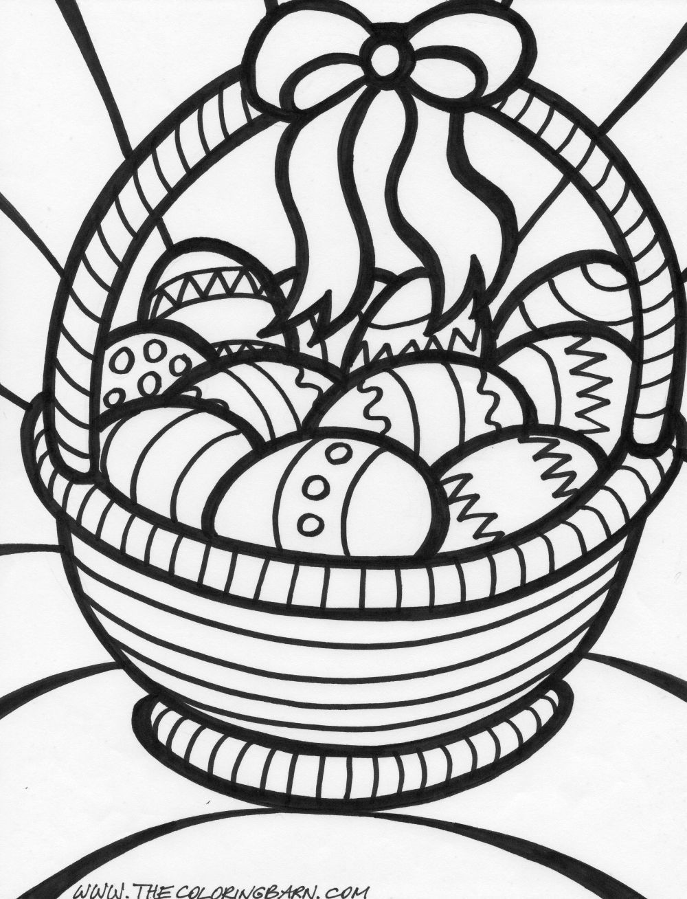Easter Basket Coloring Pages 24